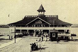 Photo of the Balboa Pavilion taken in 1906